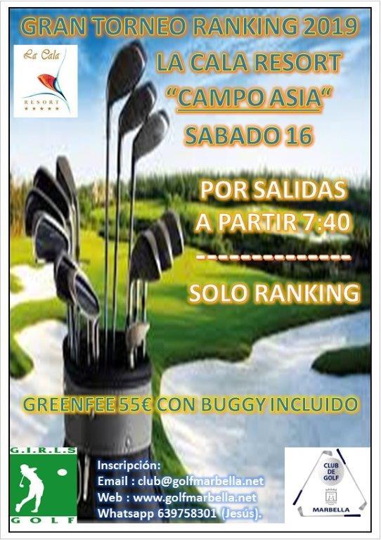 Próximo torneo ranking 2019