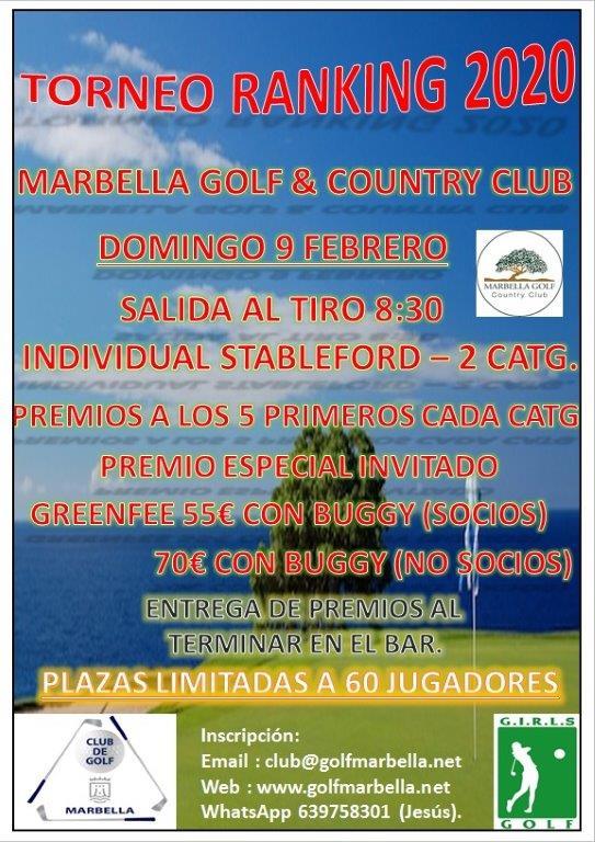 (Español) Próximo torneo ranking 2020