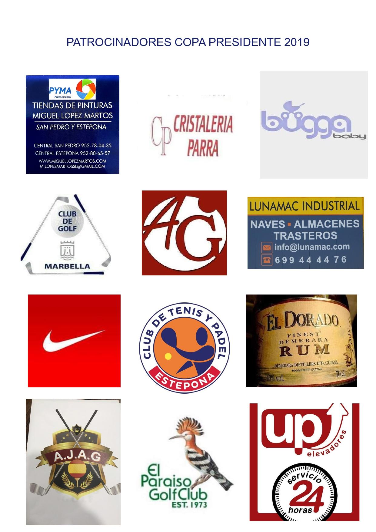 Patrocinadores Copa Presidente